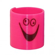 Toyvian 12pcs Mini Smiley Rainbow Spring Magic Springs Circles Slinky Toys for Children Kids Gift (Random Color and Pattern)