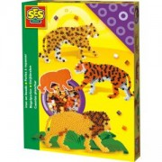 Детски креативен комплект с Мъниста - Диви животни, SES, 080876