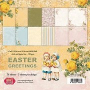 Craft And You Design Ozdobny papier Easter Greetings 15,24x15,24 cm