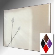 Twin Spears Design Bevelled Frameless Mirror 92X61cm With Colour Option