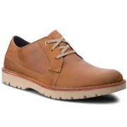 Обувки CLARKS - Vargo Plain 261366767 Dark Tan Leather
