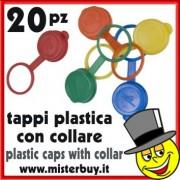 TAPPO PLASTICA CON COLLARE SET 20 PEZZI