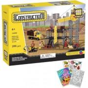 Brictek 14005 Construction Site 395pc Building Blocks Set (Compatible With Legos) With Activity Book