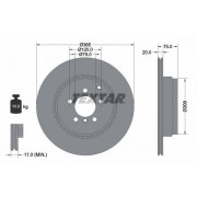 TEXTAR Discos De Freno LAND ROVER 92224803 LR011891,LR031846