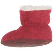 Acorn Kids' Easy Bootie Ragg Slipper, Red Ragg Wool, 12-18 Months M US Toddler