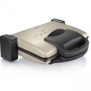 Контактен грил Bosch, 1800 W, Подвижни плочи за печене, Незалепващо покритие, Цвят антрацит, TFB3302V