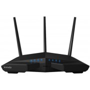 Router Wireless Tenda AC18, Gigabit, Dual Band, 1900 Mbps, 3 Antene externe (Negru)