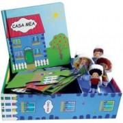 Casa mea. Set Carte + puzzle + 5 figurine lemn