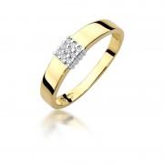 Biżuteria SAXO 14K Pierścionek z brylantami 0,05ct W-417 Złoty RATY 0% | GRATIS WYSYŁKA | GRATIS ZWROT DO 1 ROKU | 100% ORYGINAŁ!!