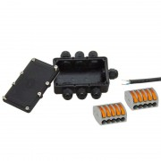 Low-voltage distributor with 6 ports IP68
