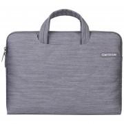 12 Pulgadas Portatil De Mano Cartinoe Jean Serie Exquisita Cremallera Bolsa De Ordenador Portatil Para El Macbook, Lenovo Y Otros Laptops, Tamaño Interior: 32x21x2.5cm (gris)