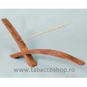 Suport din lemn pentru betisoare parfumate Bridge Cross