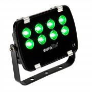 EuroLite LED IP FL-8 grün 30° IP 56, 8x1W Garden Light