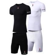 Gladiator pakket - Compressiebroek + Compressie shirt - Heren (In Zwart en Wit)