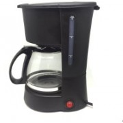 Smiledrive Drip Coffee Maker Machine With Free Re-Usable Filter-Makes 6 cups filter coffee 6 Cups Coffee Maker(Black)