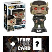 Bistan (2016 NYCC Exclusive): Funko POP! x Star Wars Vinyl Bobble-Head Figure w/ Stand + 1 FREE Official Star Wars Trading Card Bundle (104586)
