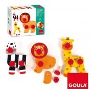 GOULA Juego Educativo GOULA, Enrosca Y Juega Animales Selva