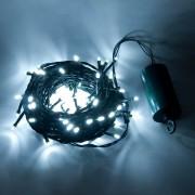 zasilany bateryjnie łańcuch świetlny LED z animacją - 10,2 m, 100LED, zimna biel
