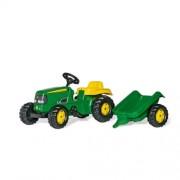 Rolly Kid John Deere pedálos traktor utánfutóval