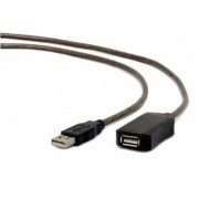 UAE-01-5M USB 2.0 active extension cable, black color, bulk package, 5m