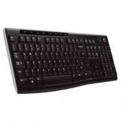 Tastatura USB US Logitech K270, Cordless Black/