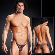 Blue Line Pro-Mesh Side Tie Bikini Underwear Leopard BLM009