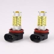 EH H8 H11 80W 3000K Alta Potencia LED Blubs Luces De Conducción De Niebla Amarilla Funcionamiento De La Lámpara - Amarillo