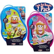 Playskool Friends Mr. Potato Head Knight Story Pack (27pcs) & Mrs. Potato Head Mermaid Story Pack (27pcs) Twin Gift Set Bundle - 2 Pack