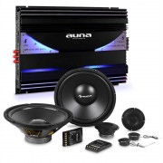 auna CS-Comp-10 Set Hi-Fi Car Amplificatore 6 Canali Altoparlanti