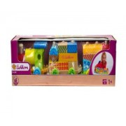 Детско дървено цветно влакче, , Simba Eichhorn, 043010