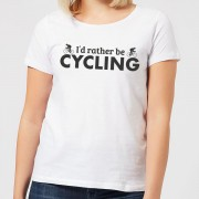 I'd Rather be Cycling Women's T-Shirt - White - XXL - White
