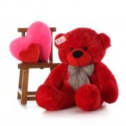 Affordable 5 Feet Long Red Teddy Bear Soft Toy 152 cm