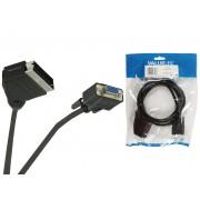 Valueline VLVP31550B05 EuroScart dugó - VGA aljzat video átalakító kábel 0,5m - fekete
