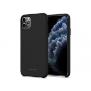 Etui Spigen Silicone Fit do Apple iPhone 11 Pro Black + Szkło