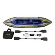 Barca gonflabila Canoe Challenger 2 cu pompa si vasle Intex 68306