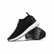 EY Moda Hombres Transpirable Zapatillas Deportivas Slip-on Trotar Caminar Sneakers-Negro