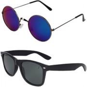 Zyaden Combo of Round And Wayfarer Sunglasses (Combo-153)