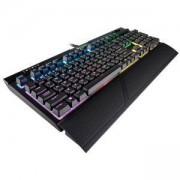 Геймърска механична клавиатура Corsair Gaming STRAFE RGB MK.2, RGB LED подсветка, механични бутони Cherry MX Silent, USB 2.0, жична, CH-9104113-NA