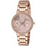 Titan Analog Pink Dial Women's Watch - 95058WM02