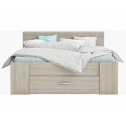 CONFORAMA Lit 140x190 cm + 3 tiroirs POP coloris chêne shannon