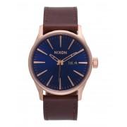 ユニセックス NIXON A105 SENTRY LEATHER 腕時計 ダークブルー