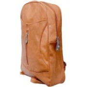 TANSY Women's Tan Synthetic (Faux Leather) Stylish Party Wear Backpacks 2 L Backpack(Tan)