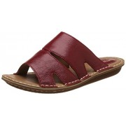 Clarks Women's Tustin Stacey Red Leather Fashion Sandals - 4 UK/India (37 EU)