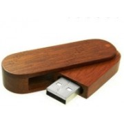 nexShop Designer Keychain with Ultra Stylish Wooden Body USB 2.0 Removable Storage 16 GB Pen Drive(Brown)