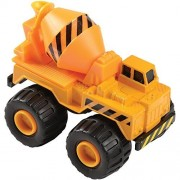 Cp Toys By Constructive Playthings Heavy Duty Die Cast Construction Vehicles 4 Piece Playset Oversized, Big Rolling Wheels Ages 3+