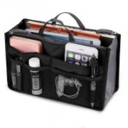Lemish Mini Women Cosmetic Makeup Bags Organizer Storage Bag Pouch Holder-Black Travel Toiletry Kit(Black)