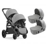 Baby Jogger carucior 2 in 1 City Select Lux pentru gemeni 0m+, Slate