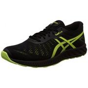 Asics Men's Fuzex Lyte Black, Safety Yellow and Onyx Running Shoes - 10 UK/India (45 EU)(11 US)