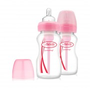 Dr. Brown´s Brede Halsfles Duo-pack 270 ml Roze