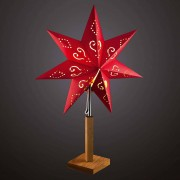 Hellum Dilja - paper star with a wooden stand